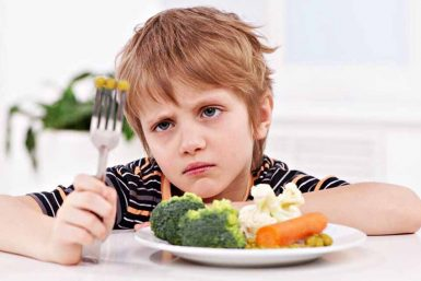 kid not eating vegetables