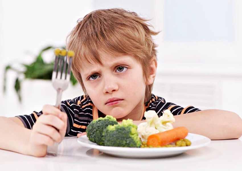 kid not eating vegetables